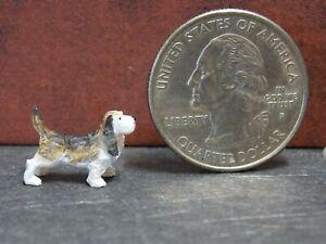 Dollhouse Miniature Dog Hound Animals A17 1:48 Quarter Scale Dollys Gallery