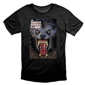 An American Werewolf In London Scary Horror T Shirt Black
