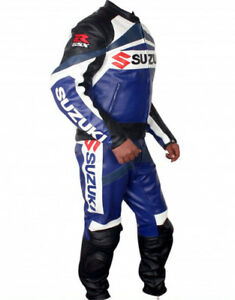 GSXR SUZUKI Racing Biker Motorcycle Leather Suit Motorbike Leather Jacket Pant