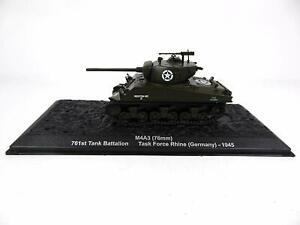 1:72 WWII U.S. SHERMAN M4A3 (75mm), Germany 1945 -DeAgostini - NEW IN BOX