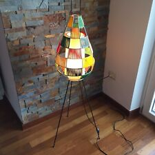 🔴 rara lampada tripode scandinava da terra in corda anni 50 VINTAGE stilnovo
