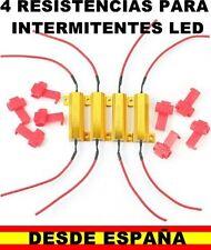 4 RESISTENCIAS 50W 6 OHM 12V ALUMINIO SOLUCION AL FALLO INTERMITENTES LED MOTO G