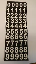 WHITE ADHESIVE VINYL NUMBERS 50mm HIGH x 50