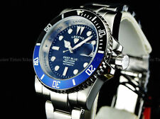 "New Legend Mens ""BATMAN"" 200M Deep Blue Automatic Sapphitek Black Dial SS Watch"
