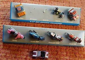 Micro Machines Street Riders #34 Steel Wheels & #27 Hot Finishes Galoob 1993