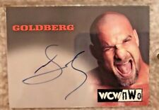 Topps WCW NWO Bill Goldberg On Card Auto Autograph 1998 1999 WWE WWF