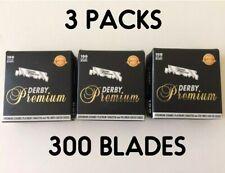3-pack 100 Derby Premium Single Edge Razor Blades Total 300 Blades NEW! Turkey