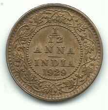 HIGH GRADE 1929 BRITISH INDIA 1/12 ANNA FARTHING COIN-AGT322