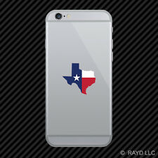 Texas Shape State Flag Cell Phone Sticker Mobile america american
