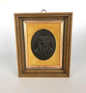 A John Bromley Wedgwood Black Basalt Portrait Plaque Of Hugh Bourne