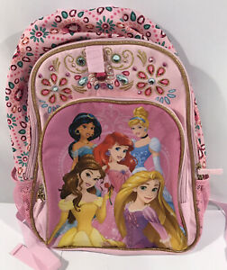 Disney Princess Backpack Pink With Jewels
