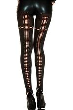 Music Legs Gothic Burlesque Pin Up Opaque Ripped Net Tights Goth Punk Pantyhose