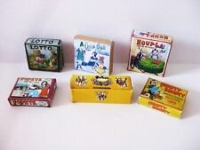 vintage  STYLE TOY BOXES   DOLLS HOUSE set 4