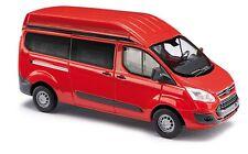 Busch 52500 HO (1/87): Ford Transit bus met hoog dak, rood
