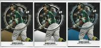 2019 Topps Series 2 Khris Davis Significant Statistics (3) Card Lot Gold Blue +