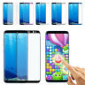 For Samsung S7 Edge/S8/S9+/Note8 3D Curved Temper Glass Screen Protector lot BN
