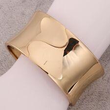 18K Gold Plated Mens Unisex Bangle Cuff Bracelet L96