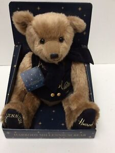 Harrods Millennium Teddy Bear New In Box With Tags (899DS)