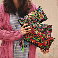 Unique Design Womens Ethnic Embroider Purse Wallet Clutch Card Holder Phone Bag