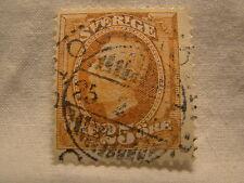 Sweden Stamp 1891 - 1904 Scott 61 A10 Orange 25 King Oscar