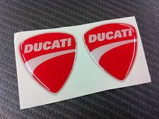 2 Adesivi Stickers New DUCATI Red 3D resinato 3 cm.