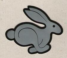 VW Volkswagen Rabbit Sticker, Silver Bunny, Sports Car Racing Decal