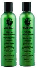 2 x Zerran Oily Hair Dandruff Shampoo - Sulfate-Free - 8 oz (2 Packs)