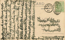FALMOUTH :1910 290 numeral cancel on picture postcard