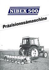 Nibex 500 Präzisionssämaschine, orig. Prospekt ca. 70er Jahre