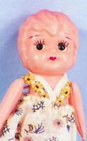 Vintage Celluloid Dollhouse Doll Carnival Prize 3.75 inches Bobbed Hair Adorable