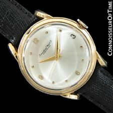 1949 IWC Vintage Mens Cal 89 Large Bombe (Bombay) Lugs 18K Gold Watch - Warranty