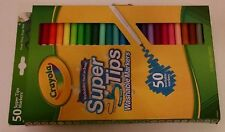 Crayola Super Tips Washable Markers, 50 Count - Nib!
