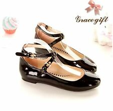 womens mary janes round toe patent leather strappy ankle shoes pumps flats girls