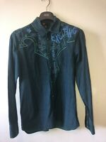 Mens Medium Diesel Shirt Cowboy Shirt Rare Funky Rare Pattern Hell YeaSeries 18