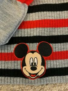 Mickey mouse boys 2 pieces hat winter with gloves size-5T new