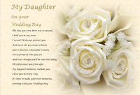 DAUGHTER WEDDING DAY GIFT - personalised gift -S2