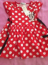 Girls Red White Spotted Cotton Dress Age 4-5 Years Minnie Mouse New Spunky Kids