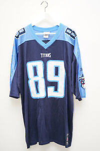 Reebok NFL Titans Football Jersey Trikot 89 Wycheck Blau Gr. 2XL