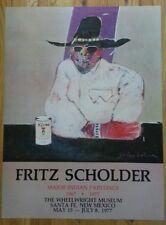 Fritz Scholder Beer Can HAND SIGNED