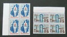 Chad-1968/1969-32F & 50F issues-Blocks of 4-MNH