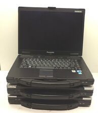 Lot of 3 Panasonic ToughBook CF-52 Core 2 Duo ?GHz No RAM Laptop AS IS