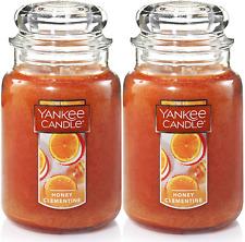 YANKEE CANDLE HONEY CLEMENTINE 22 oz LARGE JAR HTF SCENT