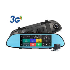 7'' 3G 1080P Android 5.0 Car DVR GPS Rear View  Monitor Reverse Camera Dual Lens