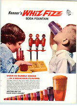 1966 PAPER AD Kenner Toy Whiz Fizz Soda Fountain Store Counter Display Sign