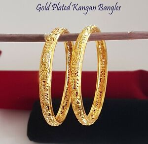 Indian Bollywood Ethnic Gold Plated Bangles Designs Bracelet Wedding Fashion Set