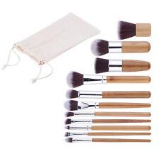 Makeup Brush Set 11Pcs HOT Handle Blush Cosmetic Foundation Bamboo Kit Brushes