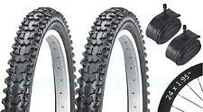 2 pneus de vélo - VTT - 24 x 1.95 - Avec Chambre à Air Schrader
