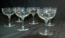 "6- 5"" Libby Rock Sharpe -Interlude pattern 1968 Crystal Stemware glass clear"