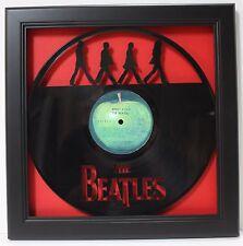 Abbey Road - Custom Shadowbox Framed Laser Cut Vinyl LP Display - USA Ships Free