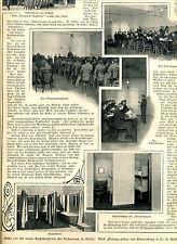 Kadettenschule Heilsarmee in Berlin--Mehrbildseite -- Zeitungsausschnitt 1906